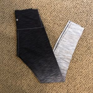 Lululemon Wunder Under ombré highrise s10 leggings